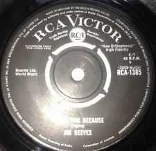 "Jim Reeves - I Love You Because / Anna Marie 1960s Pop 7"" Vinyl 45RPM"