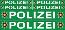 4 plus 2  Polizei Auto Boot Caravan Bus Bike Fahrrad Aufkleber grün