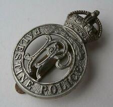 More details for obsolete vintage cap badge kings crown british colonial palestine police