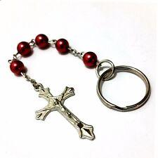 Jesus am Kreuz Schlüsselanhänger Perlen Schlüsselring Schlüssel Anhänger Kette