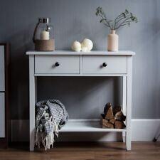 Windsor Console Table 2 Drawer Shelf Hallway Storage Furniture Unit White