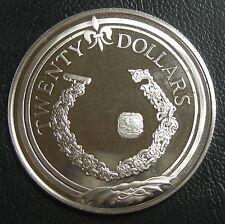 ILES VIERGES BRITANNIQUES - 20 DOLLARS 1985 - Argent - N°9
