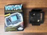 Sega Game Gear Wide View Screen Magnifier 2.5X Magnification