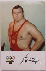 Weightlifter Jaan Talts Munich Olympic Champion Postcard USSR Estonia 1972