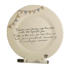 Baby Shower Gift Signature Plate (Round) (Bunting)