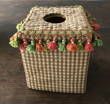 Vintage Tasseled Tissue Box Cover