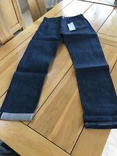 Edwin ED 39 Regolare Dritto Fit Jeans Da Uomo Denim Blu Scuro PUZZONI W29 L32 Raw