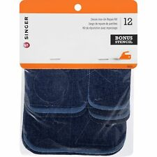 100 Cotton ASSORTED 12 Set iron On Mending Patches Denim Repair Kit for Jeans