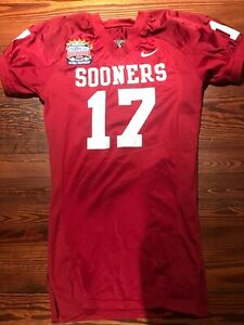 2004 Oklahoma Sooners Football Game Used Worn Jersey National Championship #17