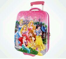 Disney Parks Youth Princess Ariel Belle Snow Cinderella Aurora Luggage Suitcase