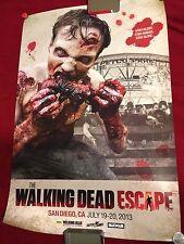 WALKING DEAD ESCAPE POSTER 27 X 40 2013 SDCC EXCLUSIVE PETCO FIELD