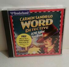 Broderbund Carmen Sandiego Word Detective ACME Agent Handbook(Windows/Mac, 1997)
