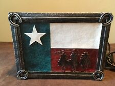 Montana West Tabletop Night Light Lamp With Lone Star Texas Scene Rustic Decor