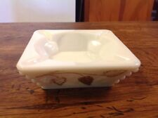 Vintage Westmoreland Milk Glass Ash Tray With Beaded Edge Grape Mint Condition