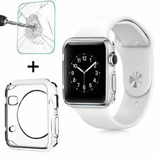 iWatch Apple Watch Series 3 Tempered Glass Screen Protector + TPU Case 42mm