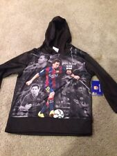 FC Barcelona Messi Youth Small Polyester Hoodie Hoody Sweatshirt. Brand New.