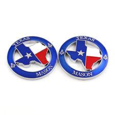 2x TEXAS MASON Logo Car Emblem Sticker for Silverado Titan Tundra F-150 Ram 1500