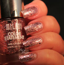 NEW! Milani Color Statement Nail Polish Top Coat in CLUB LIGHTS ~ Pink Glitter