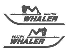 """PAIR OF 5""""X28"""" BOSTON WHALER BOAT HULL DECALS. MARINE GRADE. YOUR COLOR CHOICE."""