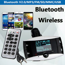 1.5'' LCD Car Kit Bluetooth MP3 Player FM Transmitter Modulator SD USB Remote