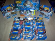 Gros Lot de 22 HotWheels / Disney Star Wars + Set Death Star Battle Blast / NEUF