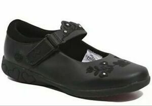 Girls Black Disney Frozen Light Up School Shoes kid's footwear
