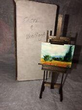 Dollhouse Miniature Easel & Vangogh Canvas Painting