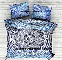 Indian Cotton Mandala Double King Size Bed Quilt Duvet Doona Cover Blanket Boho