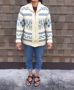 Vintage Chunky Westerley Knit 100% Wool Sweater Sz Medium