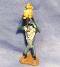 "Lion King RAFIKI Holding BABY SIMBA Figure 4"" Cake Topper Vintage Disney"