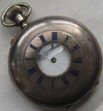 Demi Hunter Pocket watch silver case 47 mm. in diameter balance Ok.
