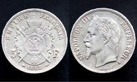 5 FRANCS 1868 A - FRANCE - Napoléon (argent / silver) 01