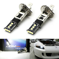 6500K HID Xenon White 9-SMD H1 LED Replacement Bulbs For Fog Lights Driving DRL