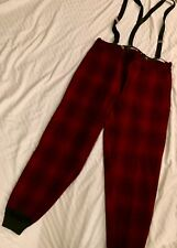 Good Wool Hunting/ Vintage H.W. Carter and Sons Pants W/ Suspenders Excellent