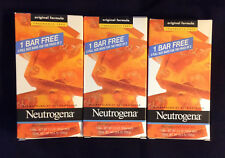 3 pack Neutrogena Facial Bar Soap Original Formula Fragrance Free 9 FULL SIZE BA