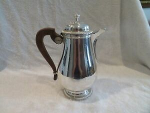 Vintage french silverplate coffeepot Gadroons Christofle Gallia Lauzun j05