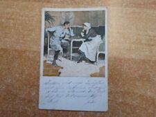 """Gelaufene Kriegspostkarte 1. Weltkrieg Nr. 22 """"Schach"""" (im Lazarett)"""