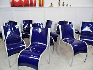Designer Retro RON ARAD KARTELL FPE plastic stacking dining chairs May 2000