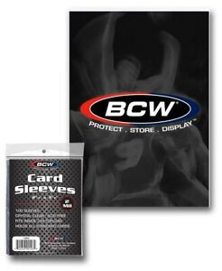 "100ct (1 pack) BCW Standard Card Sleeves 2 5/8"" x 3 5/8""  1-SSLV"