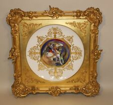 1907 Haviland Limoges Charger Saint George and the Dragon in Antique Gold Frame