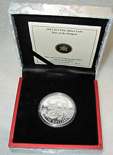 2012 CANADA $15 DOLLARS YEAR OF THE DRAGON 1 OZ -.9999  COA #5230 FROM 48888