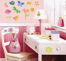 Cute Butterfly Ladybug Flower Wall decals Removable stickers kids nursery decor