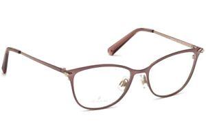 Swarovski SW 5246 072 Brushed Pink Metal Eyeglasses Frame 50-16-135 SK5246 Rx