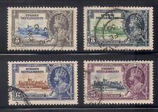 Straits Settlements   1935   Sc # 213-16   Silver Jubilee   Used   (4040-5)