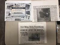 Rare Lot 1912 Titanic Boston Daily Globe Newspaper Reprint +Two More Newspaper 3