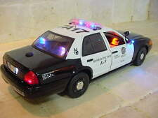 """1/18 Scale LAPD Los Angeles POLICE PI K-9  FORD Vic """"WORKING LIGHTS"""" SIREN Ut"""