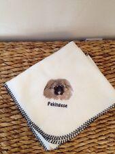 New listing Personalized Pekingese Fleece Throw Lap Dog Stroller Blanket