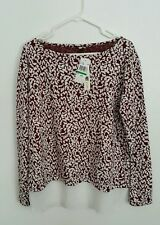 Beautiful Womens KUT from the kloth leopard print blouse red white size L Large