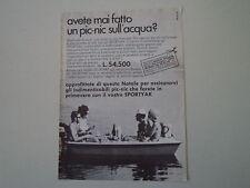 advertising Pubblicità 1968 SPORTYAK