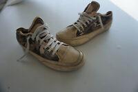 Candice Cooper Damen Schuhe Sneaker vintage leicht Gr.40 Leder Beige getragen